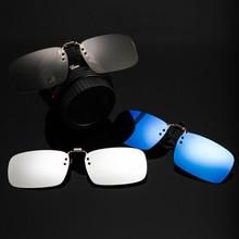 Men Clip on Sunglasses Lens Driving Night Vision Photochromic Polarized Myopia glasses Clips Folder Eyeglasses For Women New L3