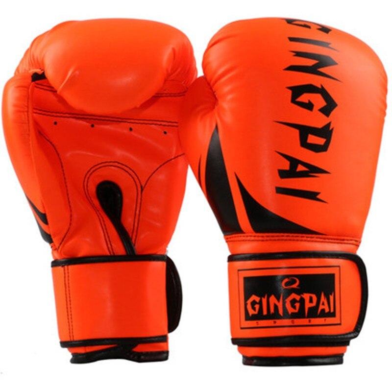 10oz Orang black Boxing glove Male Female MMA kickBoxing Glove Fighting Punching Sandbag Training glove sports equipment