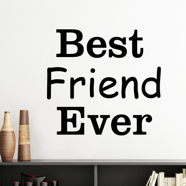 Best Friend/Boss/Mom/Dad Ever Words Quote Life Partner Design Silhouette Wall Sticker Art Decals Mural Wallpaper for Room Decal image