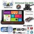1 PC espelho Retrovisor Do Carro DVR Do Carro de 7 Polegadas HD Android 4.4.2 Jogo De Vídeo Do Carro DVR navegador GPS WI-FI Gratuito Mapa + Backup câmera