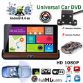 1PC 7Inch HD Android 4.4.2 Rearview mirror Car DVR Car Navigator DVR Video Play Car GPS WIFI Free Map +Backup Camera