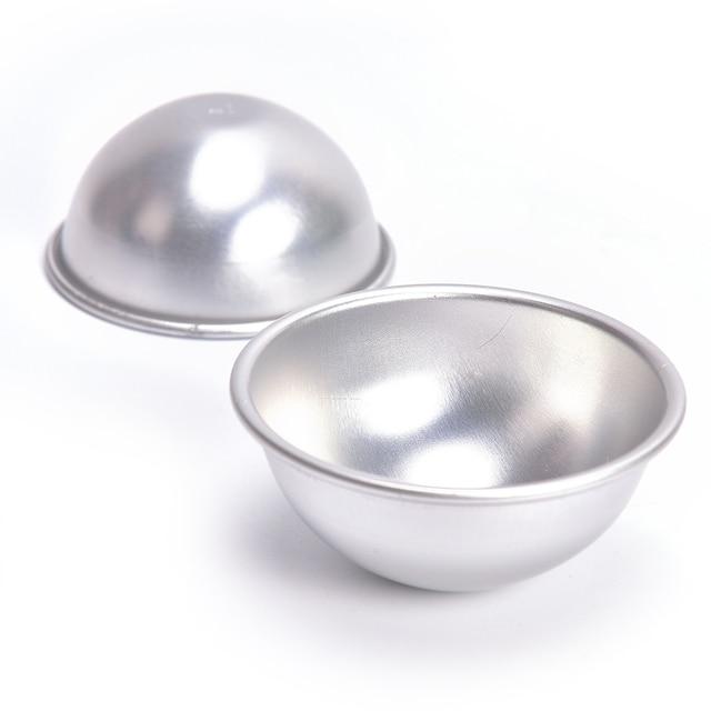 2 Pcs/Lot Creative Mold Bath Bombs Metal Aluminum Alloy Bath Bomb Mold 3D Ball Sphere Shape DIY Bathing Tool Accessories 2