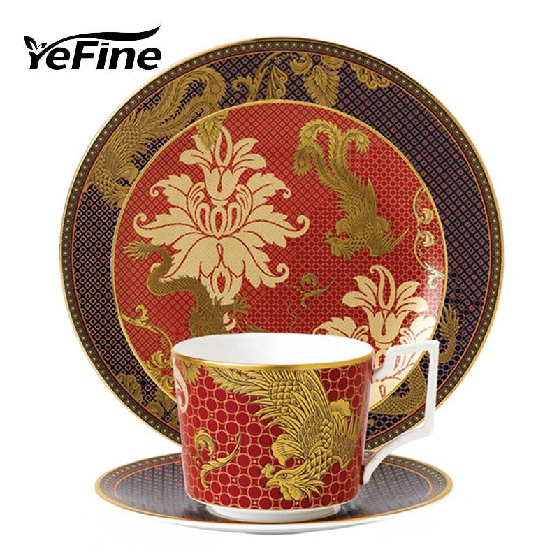Kitchen Accessories China: YeFine Ceramic Traditional Chinese Dinnerware Plate Set