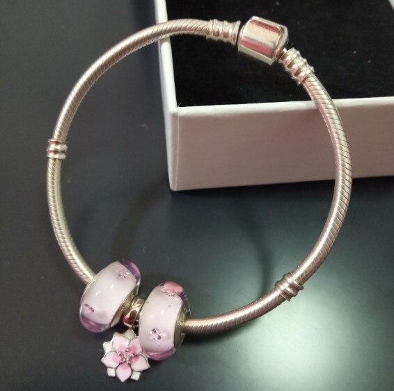 Authentique 100% 925 Sterling Argent Serpent Chaîne De Bracelet et Bracelet De Luxe Bijoux pour amie cadeau