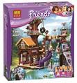 New 726Pcs Friends Adventure Camp Tree House Model Building Kits Mini blocks Blocks Bricks Girl Toy Compatible Legoe