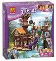 Nuevo 726 Unids Amigos Aventura Campamento Árbol Casa Kits de Edificio Modelo Mini bloques Bloques de Ladrillos de Juguete Niña Compatible Legoe