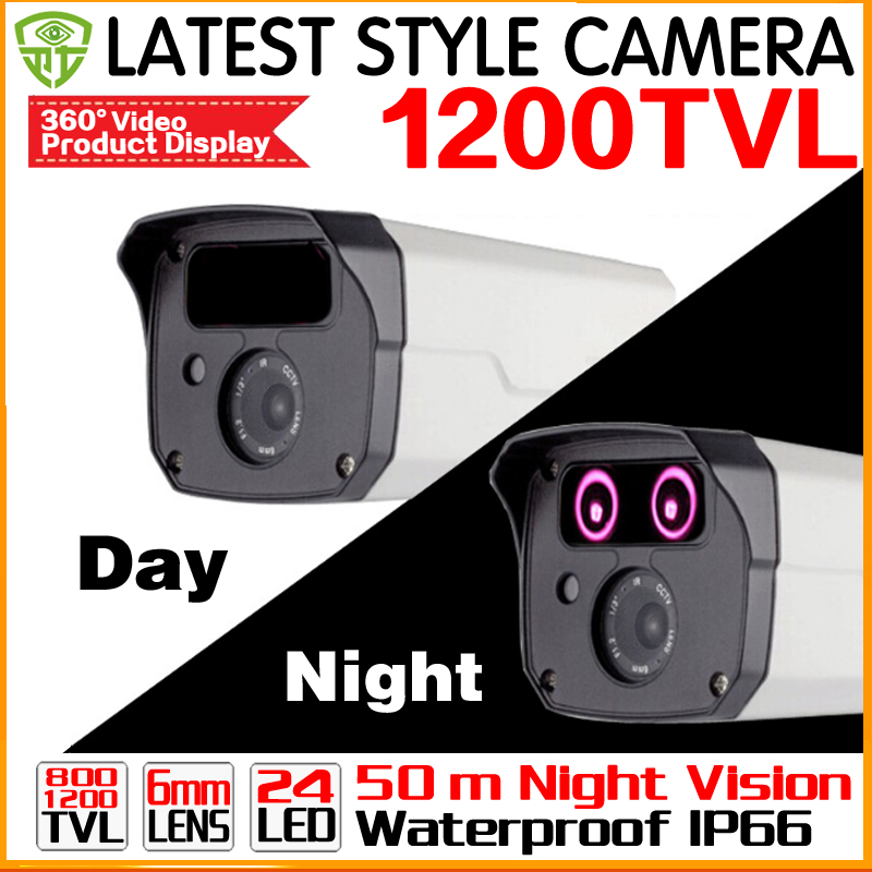 New arrival Metal HD CCTV Camera Analog 1200TVL Day/Night Vision Outdoor IP66 Waterproof Bullet Camera Security Camera Two Array cctv camera housing metal cover case new ip66 outdoor use casing waterproof bullet for ip camera hot sale white color wistino