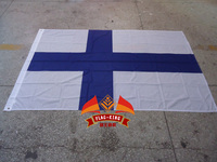 Finland National Flag 100 Polyster 120 180CM Anti UV Digital Printing Flag King Finland Banner