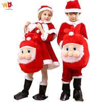 Annonce garçons filles Costume de noël vêtements enfants noël père noël ensembles robe de vêtements pour enfants