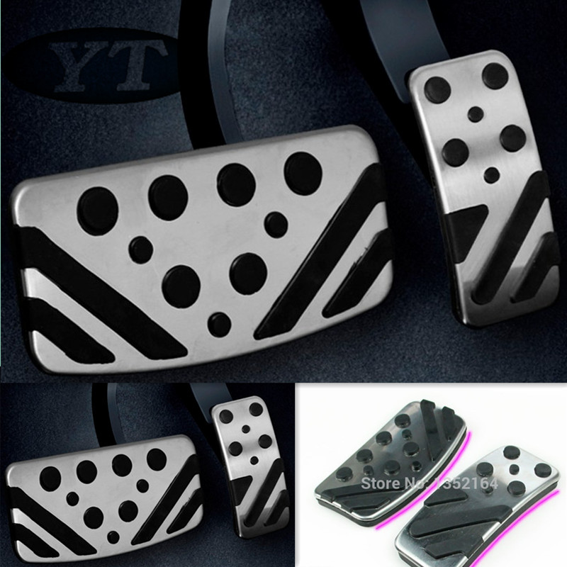 Non-Slip Foot Pedals Accelerator and Brake Aluminium Foot Pedal Protective Pads