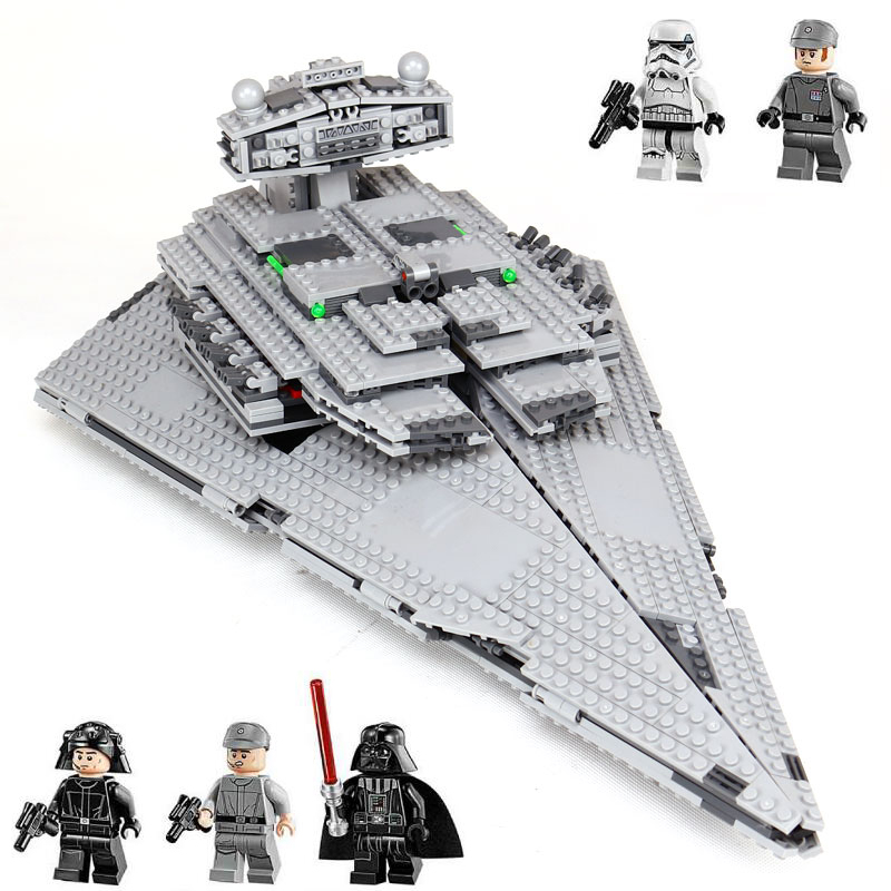 Lepin 05062 Star The Imperial Super Destroyer Set Building Blocks Bricks Wars Compatible legoinglys 75055 boys gifts Kids Toys