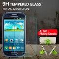 Protector de pantalla de cristal templado de cine para samsung galaxy s3 mini i8190 9 h resistente a los arañazos película protectora para s3 i8190 mini 1 regalo