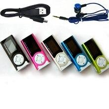 USB мини MP3-плеер с зажимом, ЖК-экран, поддержка 16 ГБ, Micro SD, TF карта, с наушниками и usb-кабелем, портативный MP3 музыкальный дизайн, спортивный
