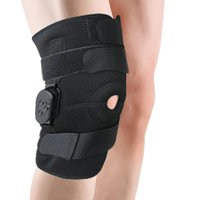 Adjustable Hinged Knee Limited Support Brace Knee Full Protection Sport Injury Knee Pads Safety Guard Strap