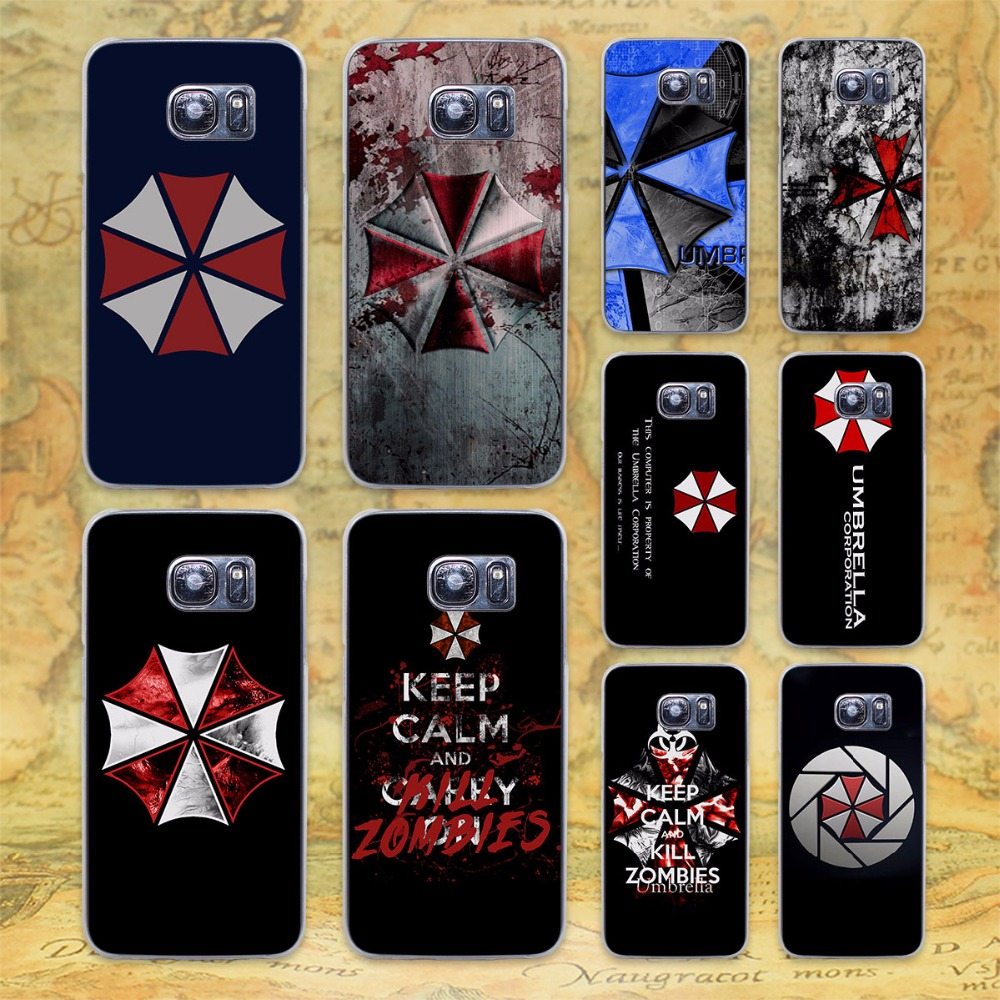 Umbrella Corporation Theme Resident Evil transparent clear hard case cover for Samsung Galaxy s6 s7 edge s4 s5 mini note 4 note5