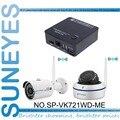 SunEyes SP-VK721WD-ME 2CH Mini IP CCTV Kit de la Cámara con un HD Cúpula de la cámara inalámbrica y un HD Bala Cámara IP Inalámbrica 720 P HD P2P