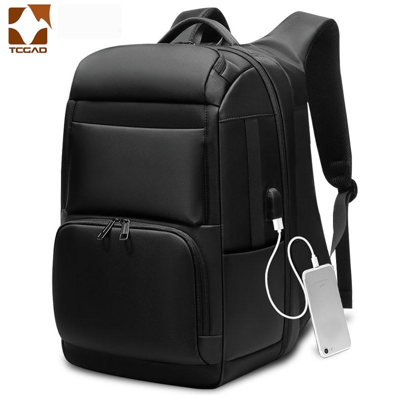 Men Backpack Black 18 Inch Travel Large Capacity Male Mochila Back Anti-thief Bag USB Charging Laptop Backpack Mochila Masculina