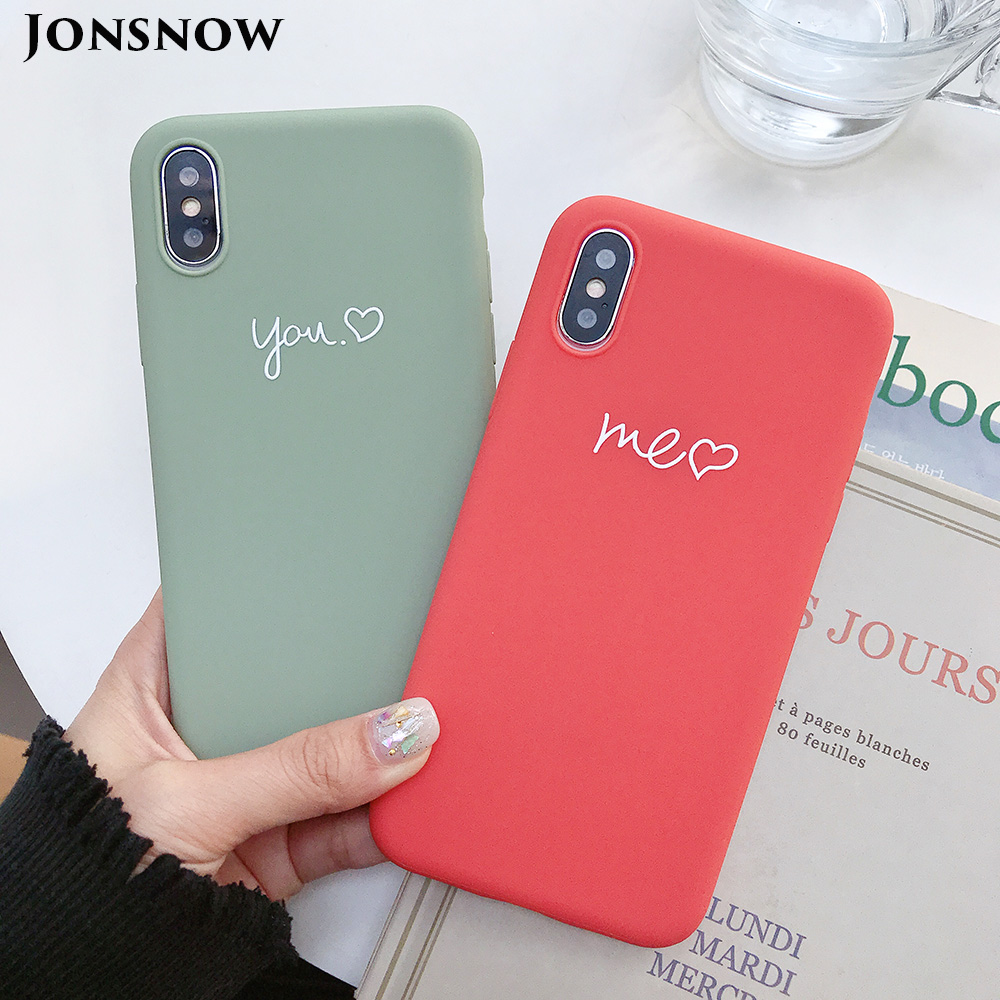 KIPX1077_1_JONSNOW Couples Style Phone Case for iPhone 6S 7 8 Plus Cartoon Painted Back Cover for iPhone X XR XS Max Soft Silicone Case