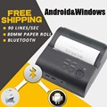 10pcs/lot 80mm Portable Bluetooth 4.0 Wireless Receipt Thermal Printer For Android Window_DHL