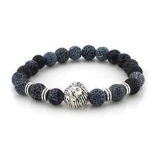 shellhard Colorful bead buddha bracelets elastic natural stone lion elephant bracelet bangles for female men jewelry prayer gift