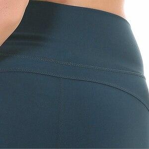 Image 5 - SHINBENE Morbido Nylon Fitness Jogger Shorts Delle Donne A Vita Alta Solido di Sport di Allenamento di Shorts Sottile Tummy Controllo Athletic Gym Shorts