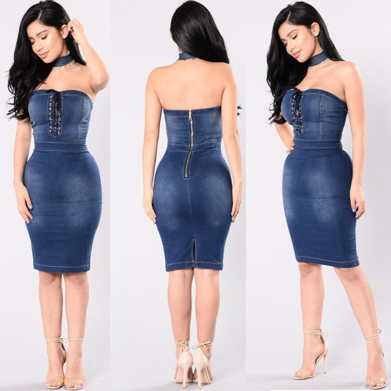 Popular Sexy Denim Dresses-Buy Cheap Sexy Denim Dresses ...