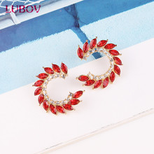 US $1.27 29% OFF|LUBOV 8 colors New Design Full Crystal Stud Earrings Fashion Women Statement Earring Girl Party Simple Earrings Jewelry 2019-in Stud Earrings from Jewelry & Accessories on AliExpress - 11.11_Double 11_Singles' Day