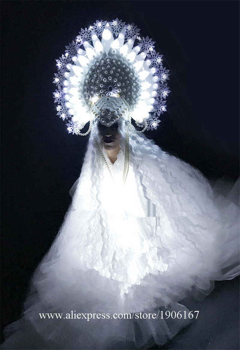 White ladies DS Ice Queen Christmas party costumes10