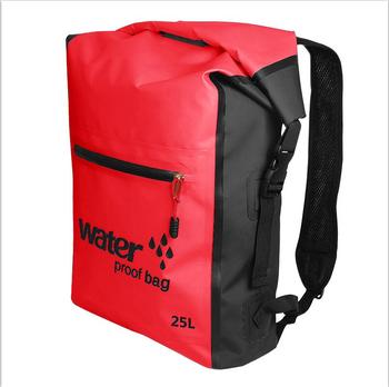 25L Portable Sport Waterproof Dry Bag Sack Swim Storage Rafting Boating Kayaking Canoeing Camping Travel Kits Drift Floating Bag - Red