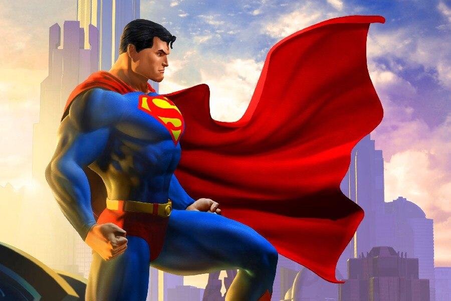 DIY marco superhéroe Comics Superman carteles y Impresión de tela de ...