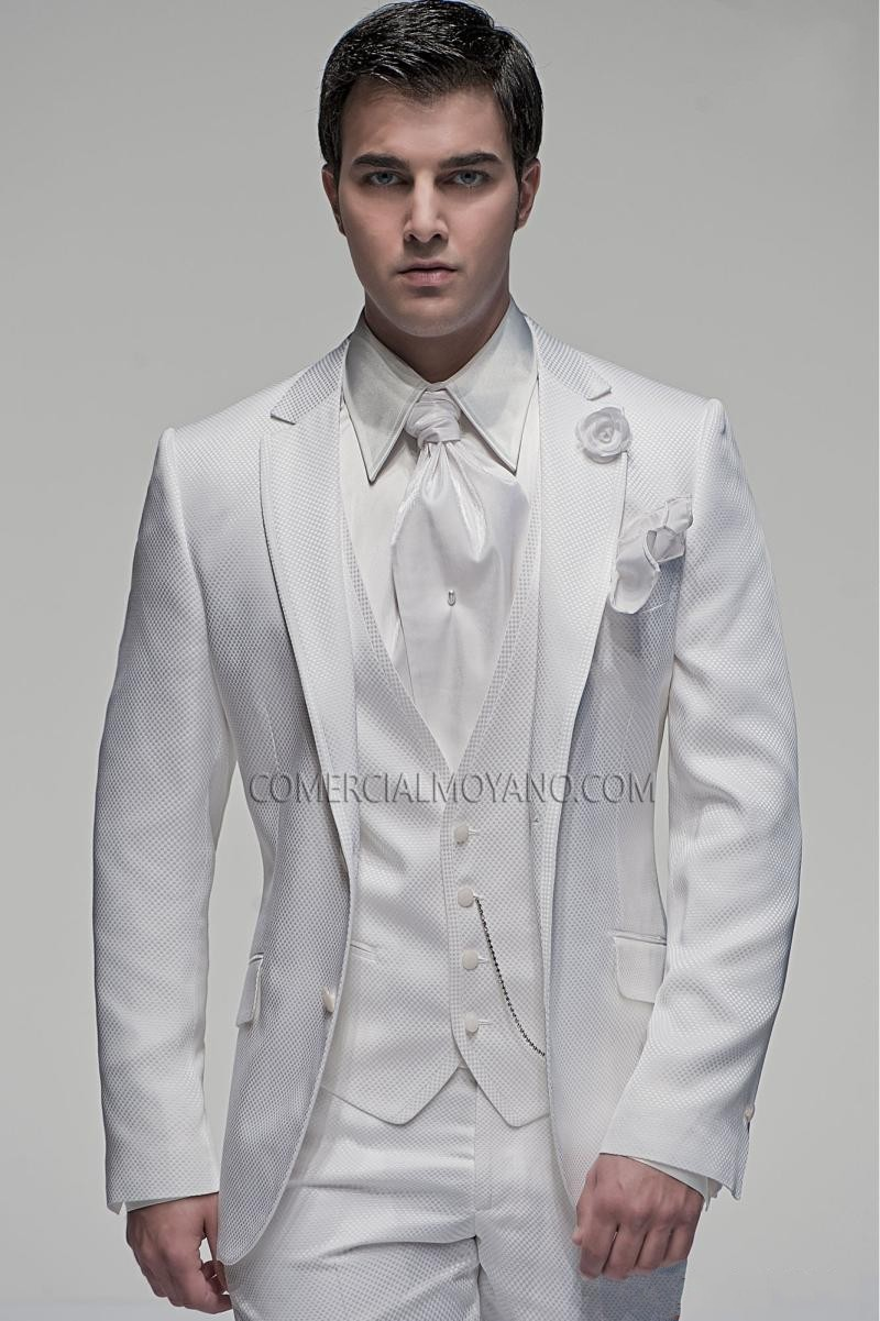 New Arrival Groom Tuxedo Two Buttons Groomsmen Notch Lapel Wedding/Dinner Suits Best Man Bridegroom (Jacket+Pants+Tie+Vest)B367