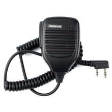 2 Pin PTT Speaker Mic for Kenwood for BAOFENG UV-5R BF-888S Retevis H777 RT-5R Radio Walkie Talkie C9001A