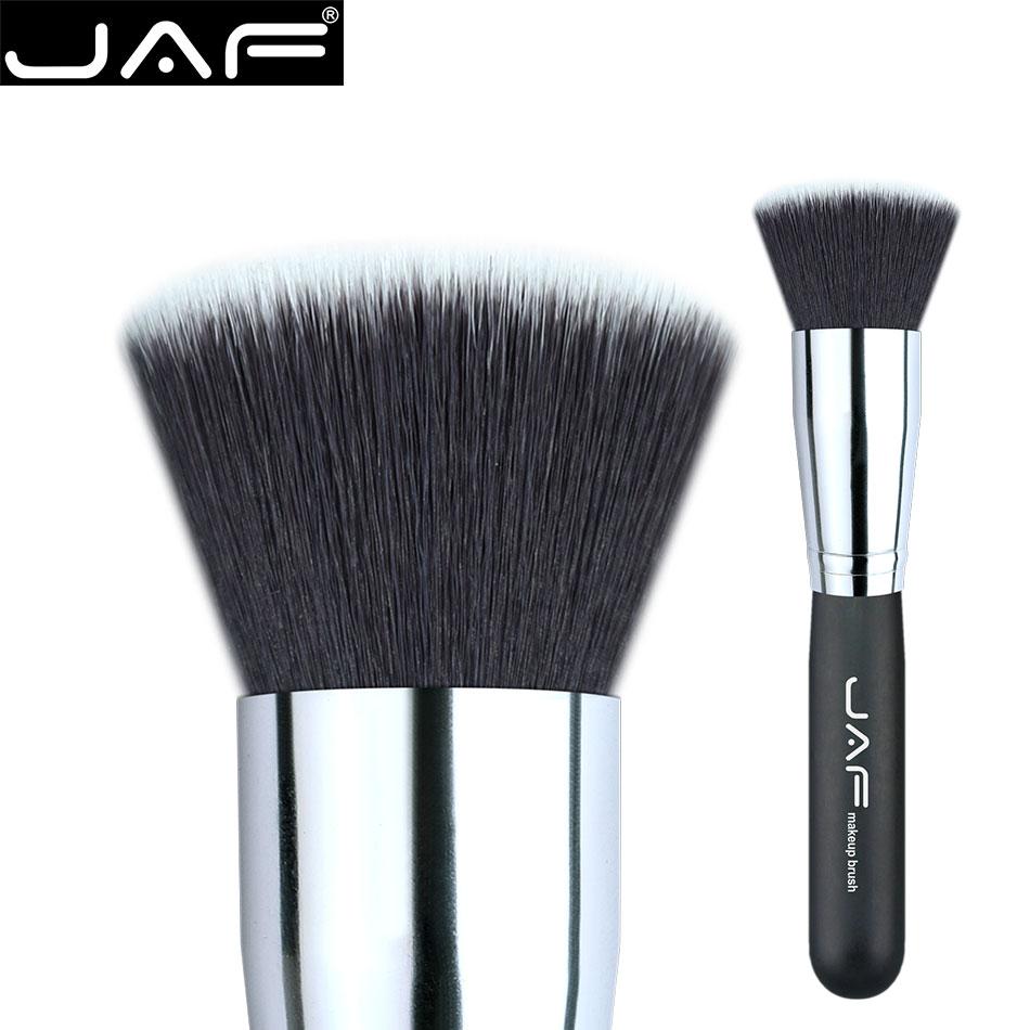 #18 Flat Kabuki Brush JAF Synthetic soft hair Buffed foundation brushes 18SSYL Makeup Brushes Free Shipping jaf 1pcs high quality kabuki brush powder blush brushes large fullfy super soft synthetic hair cosmetics makeup tools 18gky