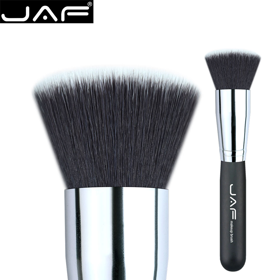 #18 Flat Kabuki Brush JAF Synthetic soft hair Buffed foundation brushes 18SSYL Makeup Brushes Free Shipping хай хэт и контроллер для электронной ударной установки zildjian gen16 buffed bronze 14 hi hat