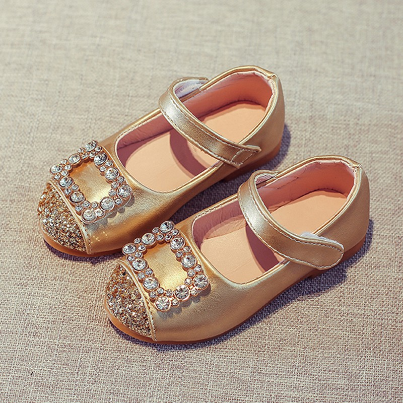 Rhinestone Fashion Baby Kids Girls Flat Dress Party Shoes Toddler Princess Shoes