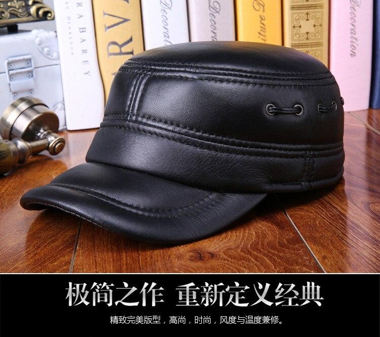 Sheepskin flat cap (1)
