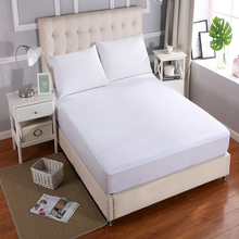 160X200cm Bed Waterproof Terry Cover Mattress Protector Cover Cotton for Bed Wetting and Bed Bug Mattress Pad Cover For Mattress free shipping terry waterproof mattress protector cover for bed bug suit for uk mattress size