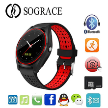 V9 Smart Watch with Camera Bluetooth Smartwatch SIM Card Wristwatch for Android Phone Wearable Devices PK V8 Y1 DZ09 GT08 цена