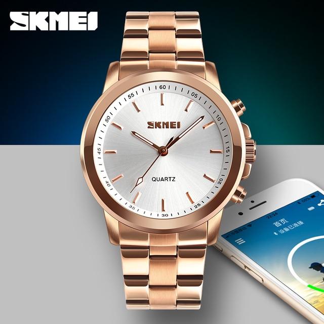 8c834d1a4 SKMEI Men Smart Watch High Quality Stainless Steel Quartz Sport Watch  Fashion Multifunction Bluetooth Smartwatch Reminder