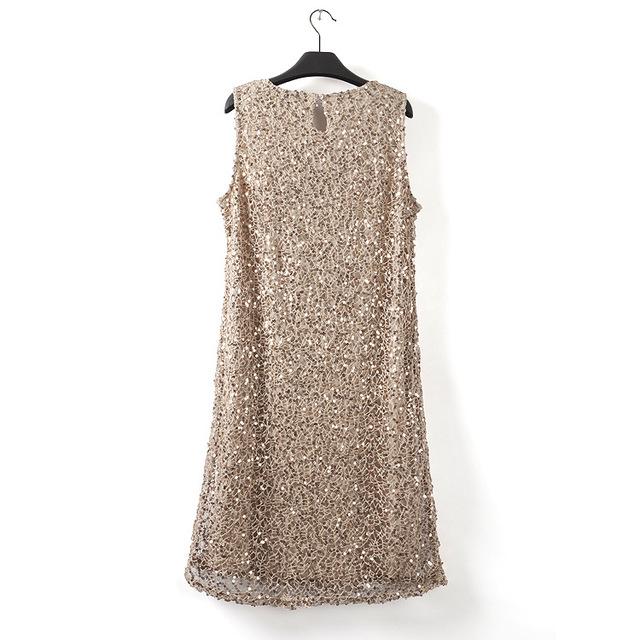 Women's Stylish Sleeveless Dress with Beautiful Sequins