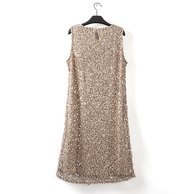 Sleeveless Stretchable Sequin Party Dress