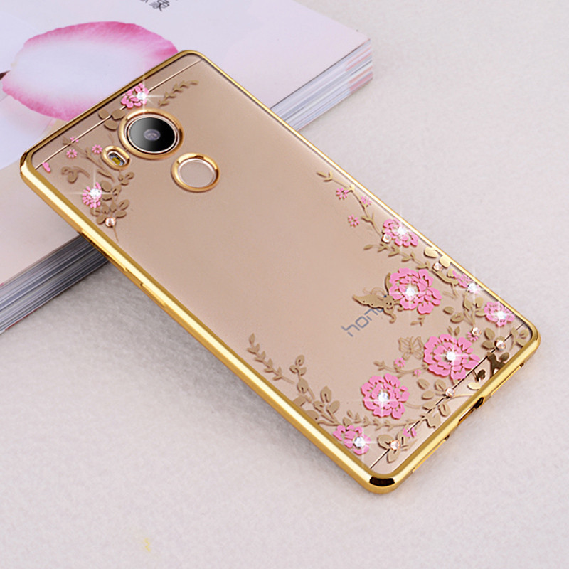 For-Huawei-Honor-6C-Case-Luxury-Plating-frame-Gilded-Glitter-Crystal-TPU-silicone-soft-Back-Cover (4)