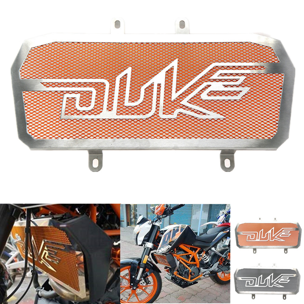 Motorcycle Accessories Radiator Guard Grille Cover Protector Grill Orange For KTM Duke 125 200 390 2012 2013 2014 2015 2016 image