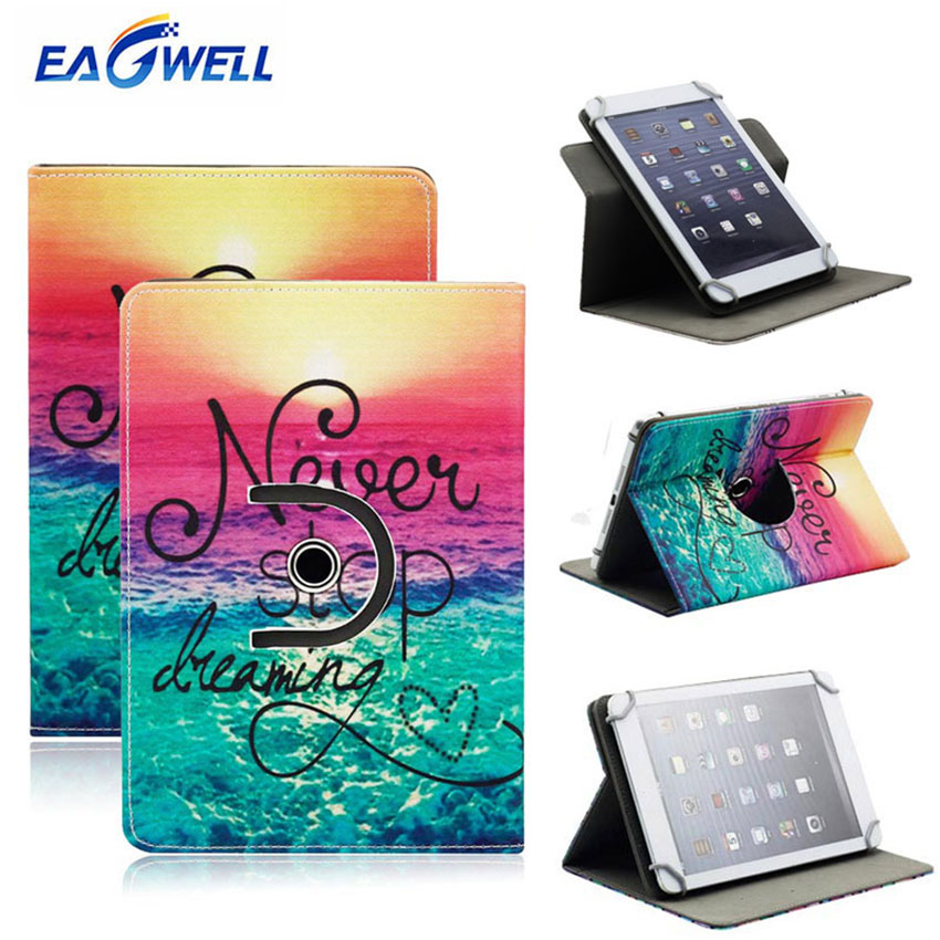 360 Rotating Universal 9.7 10 10.1 inch Tablet Case Printed Leather Protective Cover Stand for iPad Samsung Lenovo Tablet Case