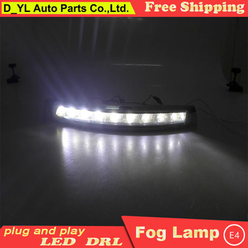 Car styling For Volvo XC90 LED DRL XC90 2007-2013 High brightness guide LED DRL led fog lamps daytime running lights B style