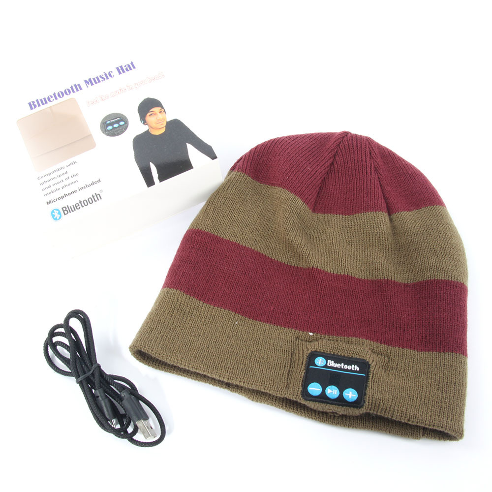 Soft Warm Beanie Hat Wireless Bluetooth Smart Cap Headphone Headset Speaker Mic A57