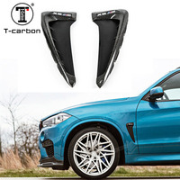 For BMW X5 F15 X5M F85 Carbon Fender Cover Trim Cover Carbon Fiber Fender Light Trim 1 : 1 Replacement Style 2015 2016 2017 UP