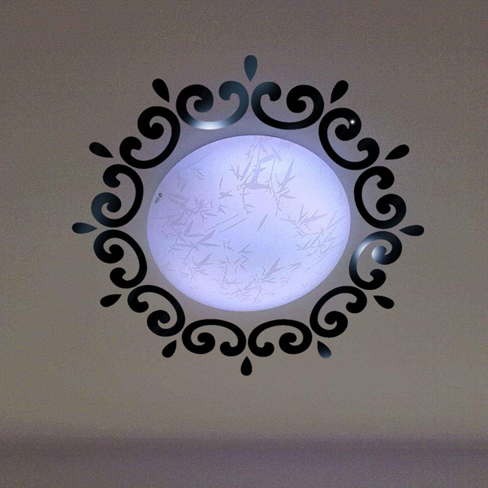 Лидер продаж зеркало настенное Стикеры S 3D Перо зеркало настенное Стикеры украшения дома номер Наклейка Фреска Книги по искусству Adesivo де ...