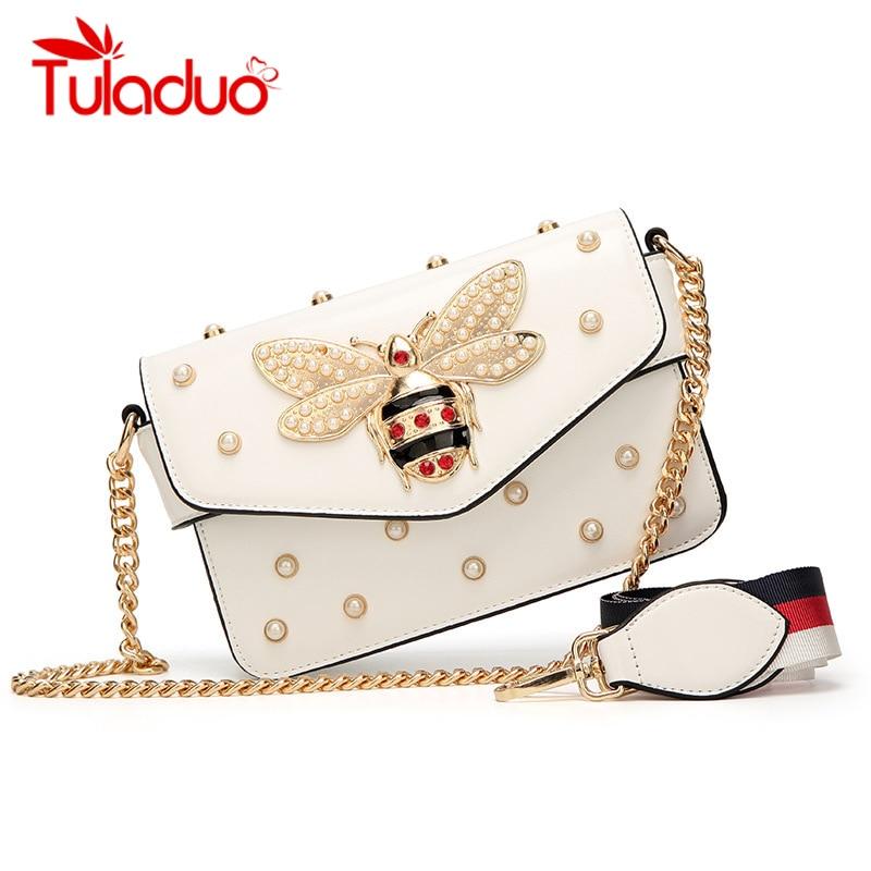 f5b939de00 Detail Feedback Questions about Fashion Women Messenger Bag Little Bee Woman  Strap Handbags Small Chain Crossbody Bag Luxury Pearl Designer Evening  Party ...