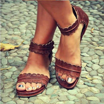 Women Sandals Retro Flats Sandals For Women Summer Shoes 2018 New Women Open Toe Beach Shoes Female Zip Casual Sandalias 42 43 - DISCOUNT ITEM  11% OFF All Category